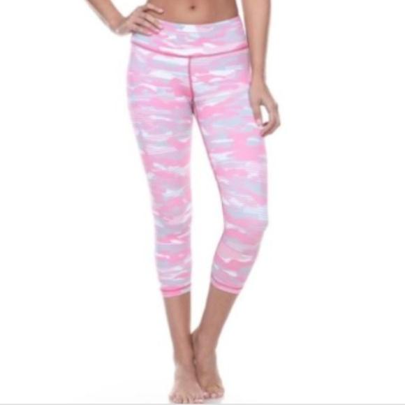 3e7e48fe5896 Vimmia Pants   S Saks Pink Camo Breast Cancer Crop Legging   Poshmark